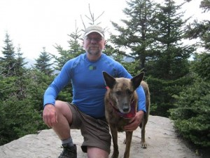 Jim and Pasha on the trail