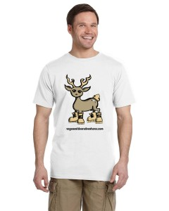 VOA Deer Mens tee mock white2