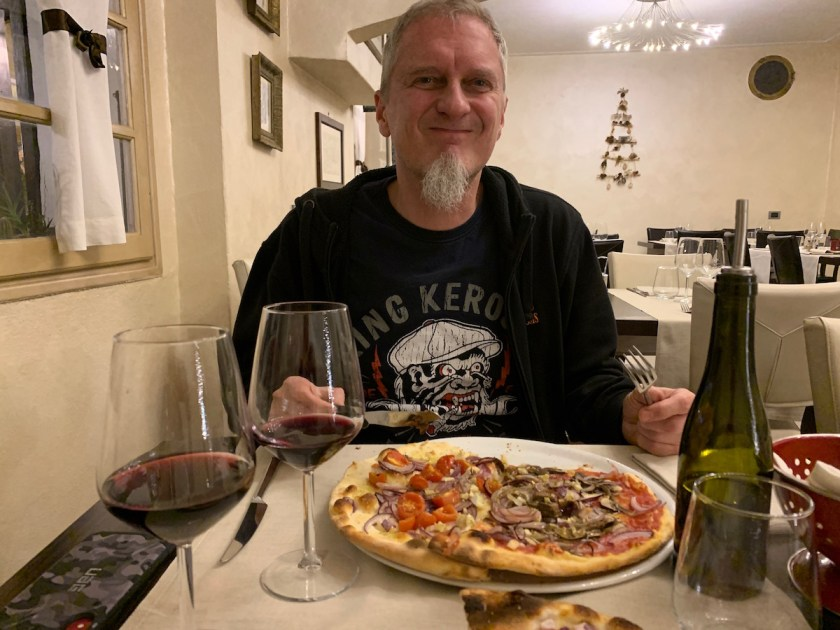 Vegan Tourists in Italy - Alex in the Pizzeria