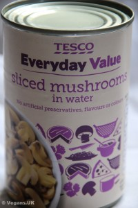 Tinned mushrooms are often more convenient than fresh