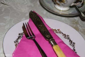 Mismatched crockery and cutlery