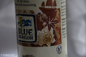 Blue Dragon soy sauce is clearly labelled