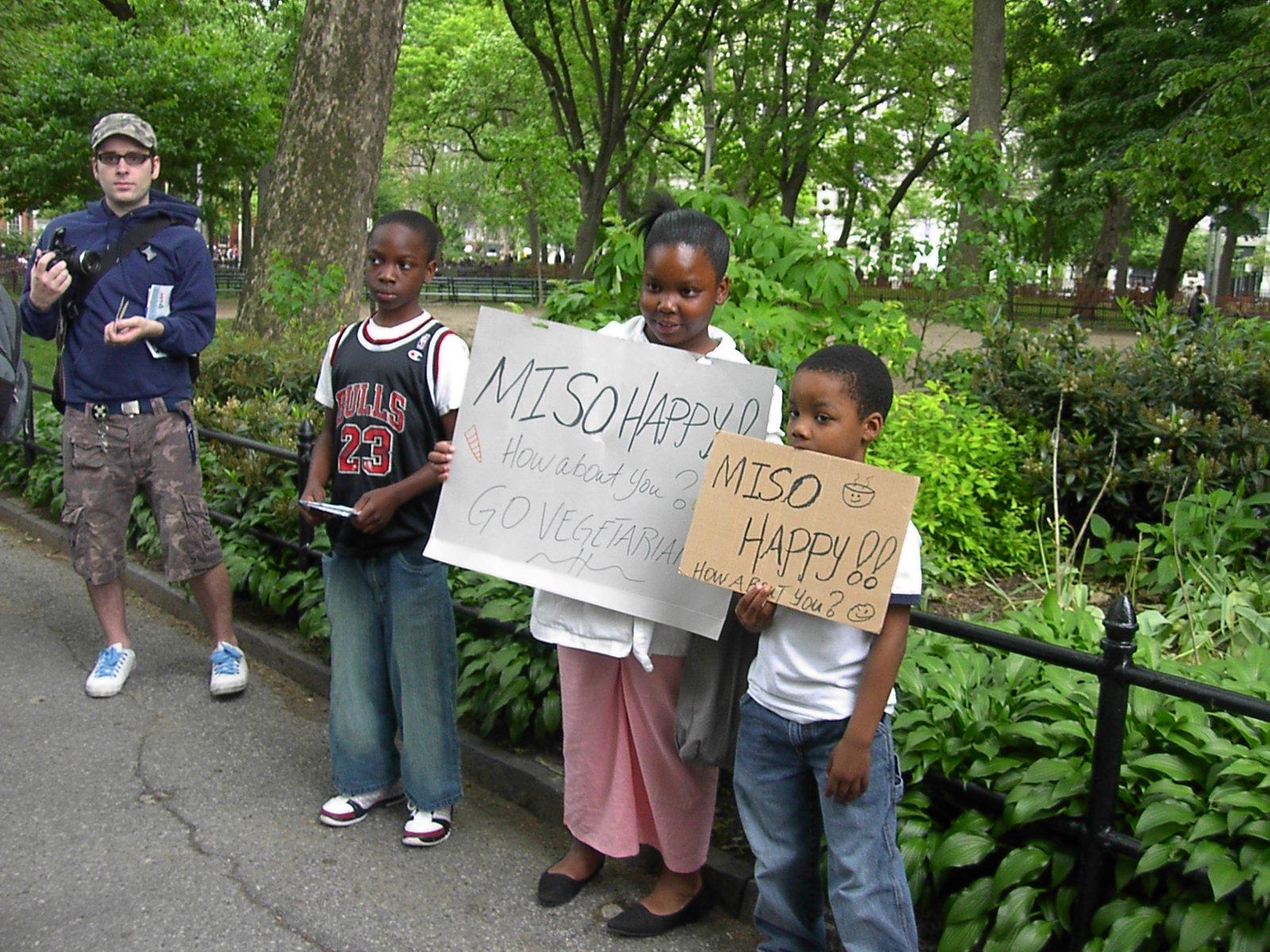 POC veg*n kids at Veggie Pride Parade