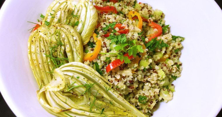 Roasted Fennel Quinoa Salad