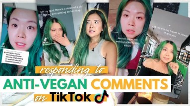 REACTING TO ANTI-VEGAN COMMENTS FROM TIKTOK (oh dear god...)