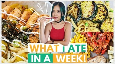 What I Ate in a WEEK as a VEGAN (realistic) - eating through my freezer