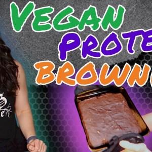 Fudgey Vegan Protein Brownie (soy free, oil free, refined sugar free, GF option) | Vegan Proteins