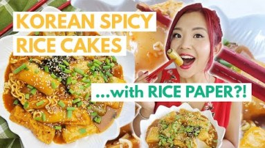 RICE PAPER TTEOKBOKKI (Spicy Korean Rice Cakes Using Rice Paper)