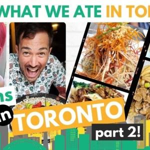 VEGAN FOOD TOUR IN TORONTO + I Met Someone Y'all Love! (Vegan Sushi, Vegan Eggs & More)