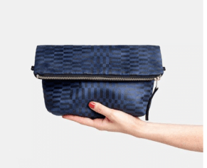 Navy Vegan Clutch