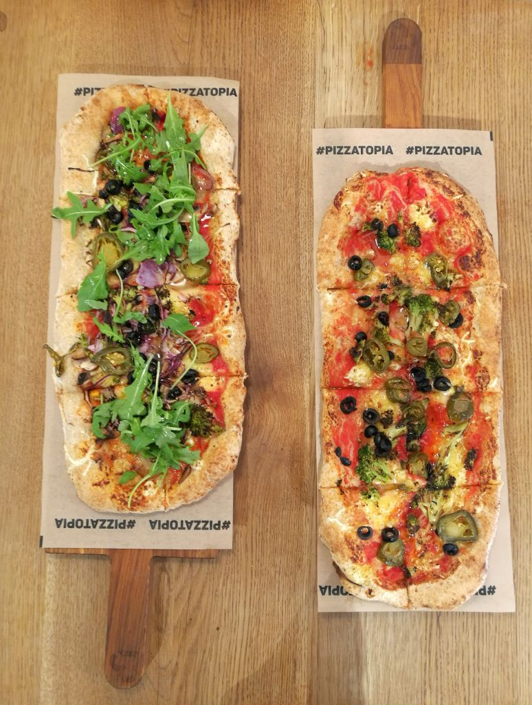 Two Vegan Pizzas in Krakow