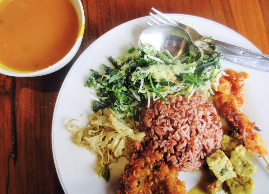 Vegan Nasi Campur in Bali