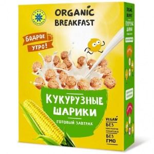 """Компас Здоровья. Завтраки сухие """"Кукурузные шарики"""""""
