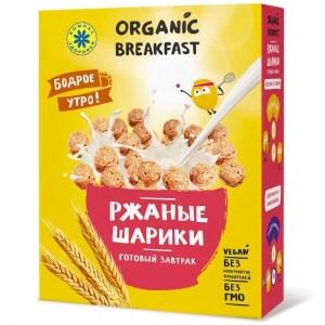 """Компас Здоровья. Завтраки сухие """"Ржаные шарики"""""""