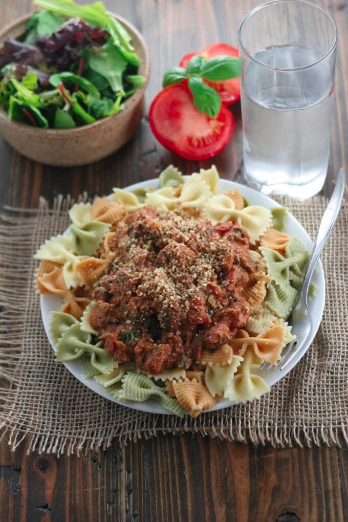 Tomato Basil Mushroom Pasta