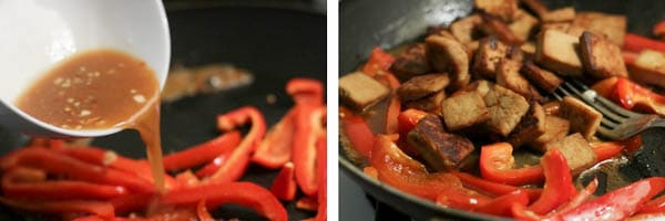 Saute Tofu in Stir Fry Sauce