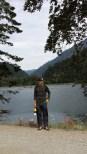 Matt with Lake Cushman backdrop