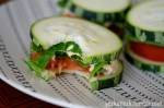 These Raw Zucchini Squash Sandwiches are an easy and super-healthy snack that are especially refreshing on a hot summer day!