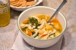 Oven Roasted Vegetable & Noodle Soup