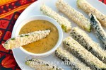 Baked Zucchini Sticks with Spicy Queso Dip