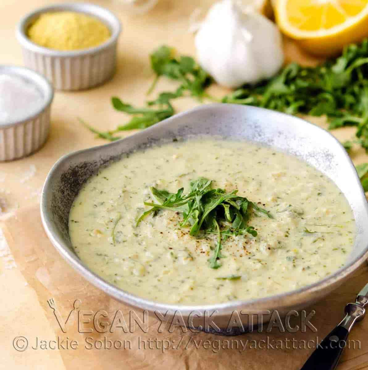Artichoke Arugula Soup