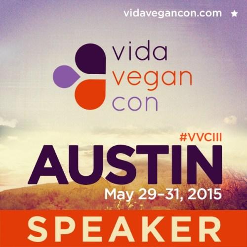 Vida Vegan Con Speaker Badge