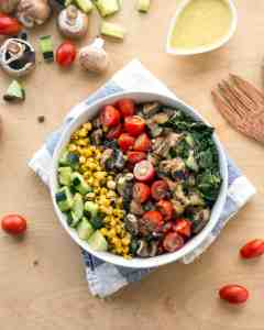 Vegan Bowl Attack! Grilled Romaine Chop Salad
