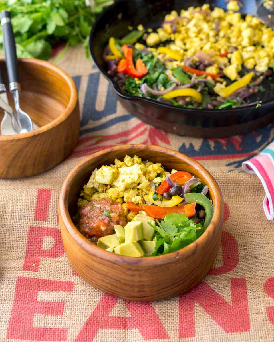 Scramble Burrito Bowl from Vegan Bowl Attack! by Jackie Sobon