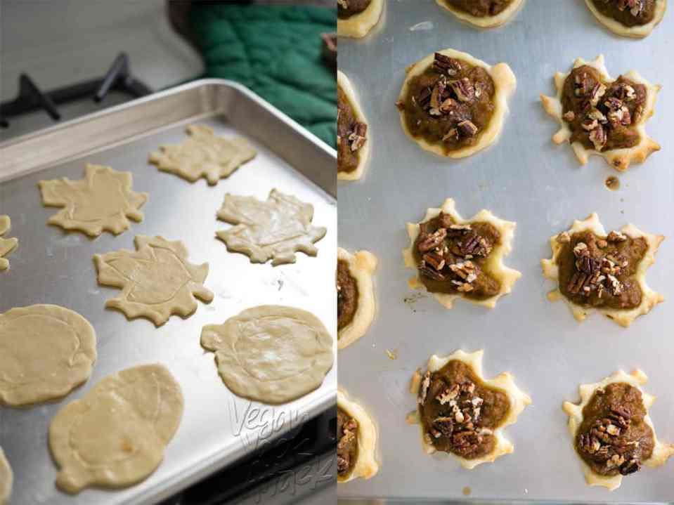 Vegan Pecan Pumpkin Pastries with Easy Maple Glaze - Easier than pie, and great for parties! @VeganYackAttack
