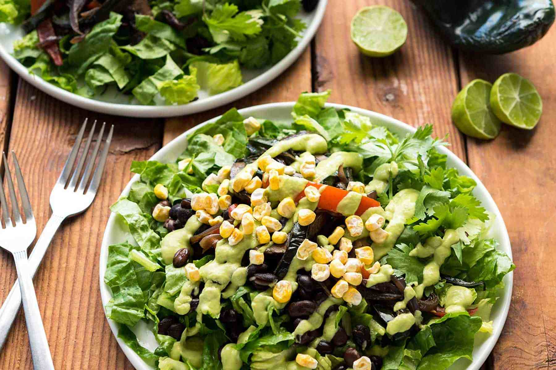 Need dinner in a pinch? This Portobello Fajita Salad from Vegan Yack Attack On the Go! is packed with flavor and comes together in under 30 minutes. You'll want the creamy avocado dressing on everything! Soy-free, Gluten-free, and Nut-free, to boot!