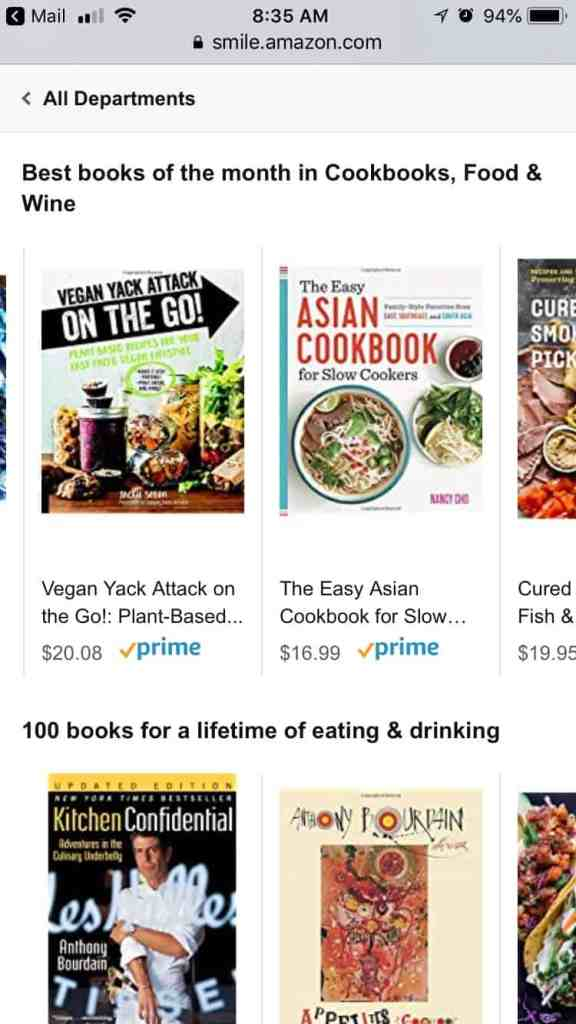 Vegan Yack Attack On the Go! Top Cookbooks July 2018 on Amazon