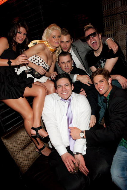 Laura Croft, Holly Madison, and friends at LAVO Nightclub