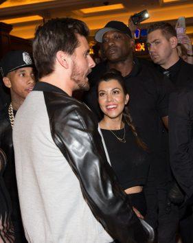 Scott Disick at Kim Kardashian's Birthday at TAO Las Vegas