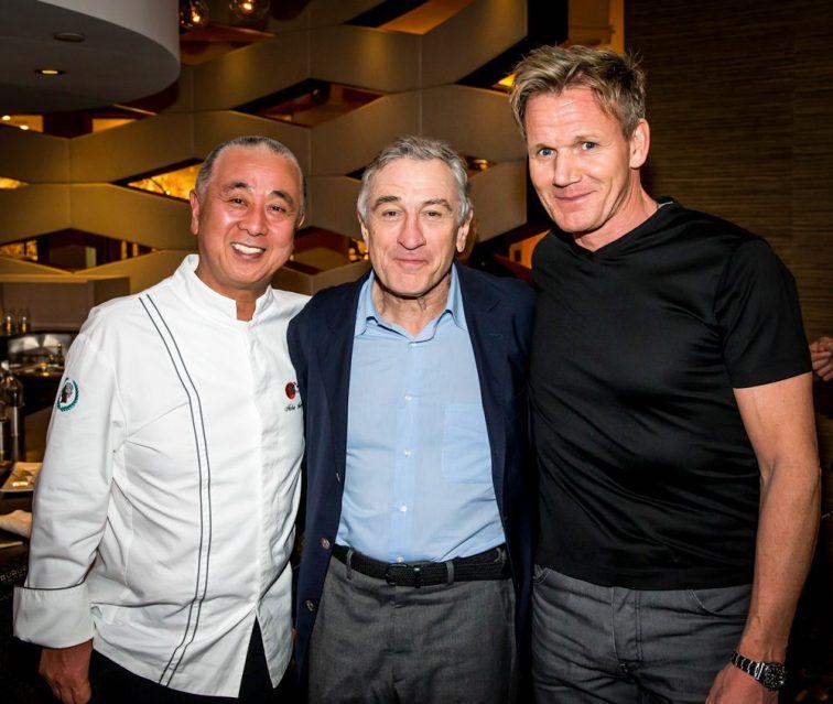 Nobu, Robert DeNiro, and Gordon Ramsay - Photo by Erik Kabik