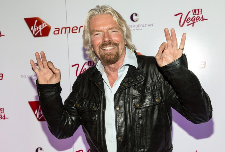 VIRGIN AMERICA & SIR RICHARD BRANSON CELEBRATE NEW FLIGHTS at The Cosmopolitan in Las Vegas, NV