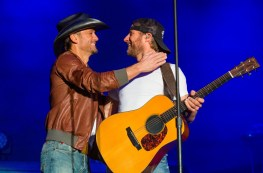 Dierks Bentley joined by Sheyl Crow and Tim McGraw at ACM Experience in Las Vegas, NV