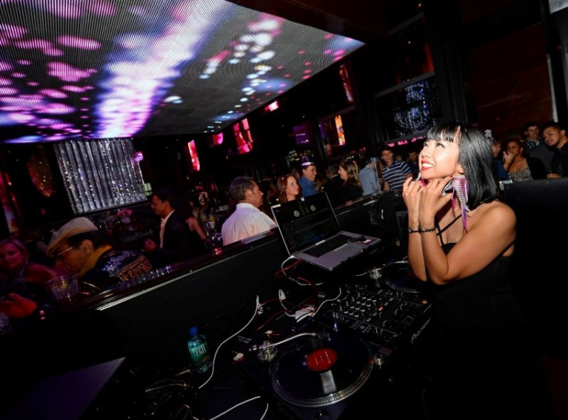 DJ Miss Joy spins at BOND, New  Year's Eve inside The Cosmopolitan of Las Vegas