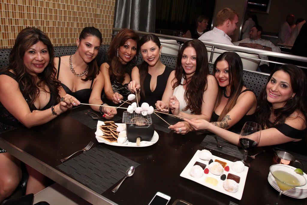 Lauren Kitt and girlfriends at N9NE Steakhouse (Joe Fury)