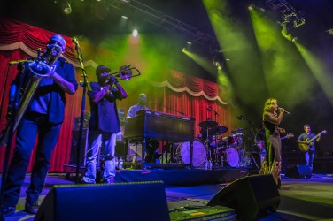 Galactic performed at Brooklyn Bowl Las Vegas at The Linq on March 29, 2014