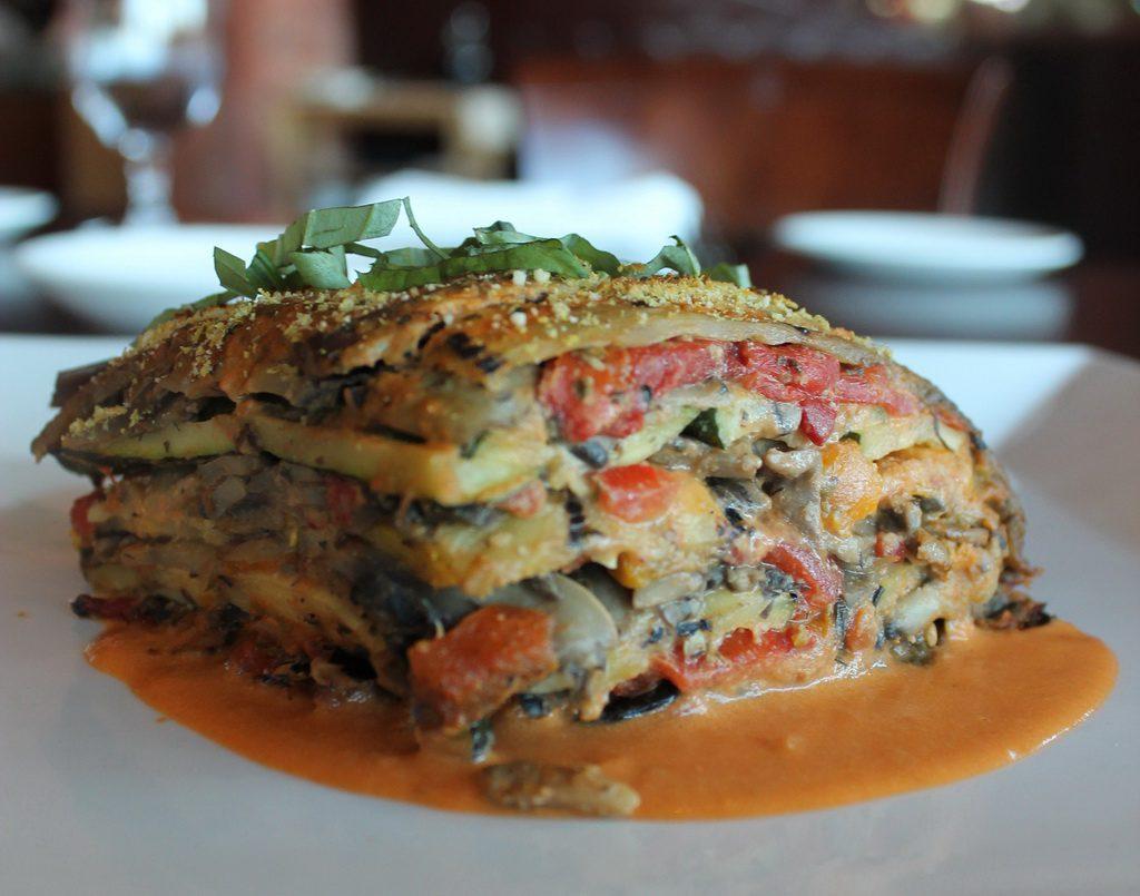 Panevino Ristorante Vegan Vegetable Lasagne