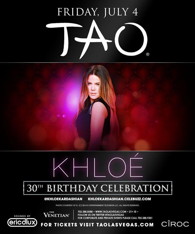 Khloe Kardashian Birthday at TAO Nightclub
