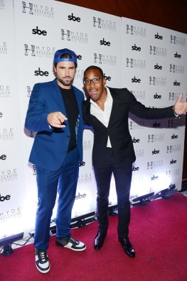 Brody Jenner and William Lifestyle pose before DJing at Hyde Bellagio