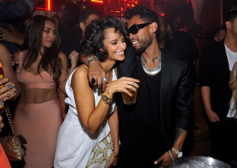 Miguel and Nazanin cuddle at Hyde Bellagio