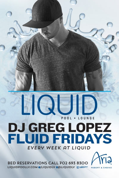 DJ Greg Lopez at Liquid Pool Lounge