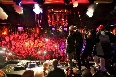 Jermaine Dupri, Usher, Skrillex, and Chris Brown at XS