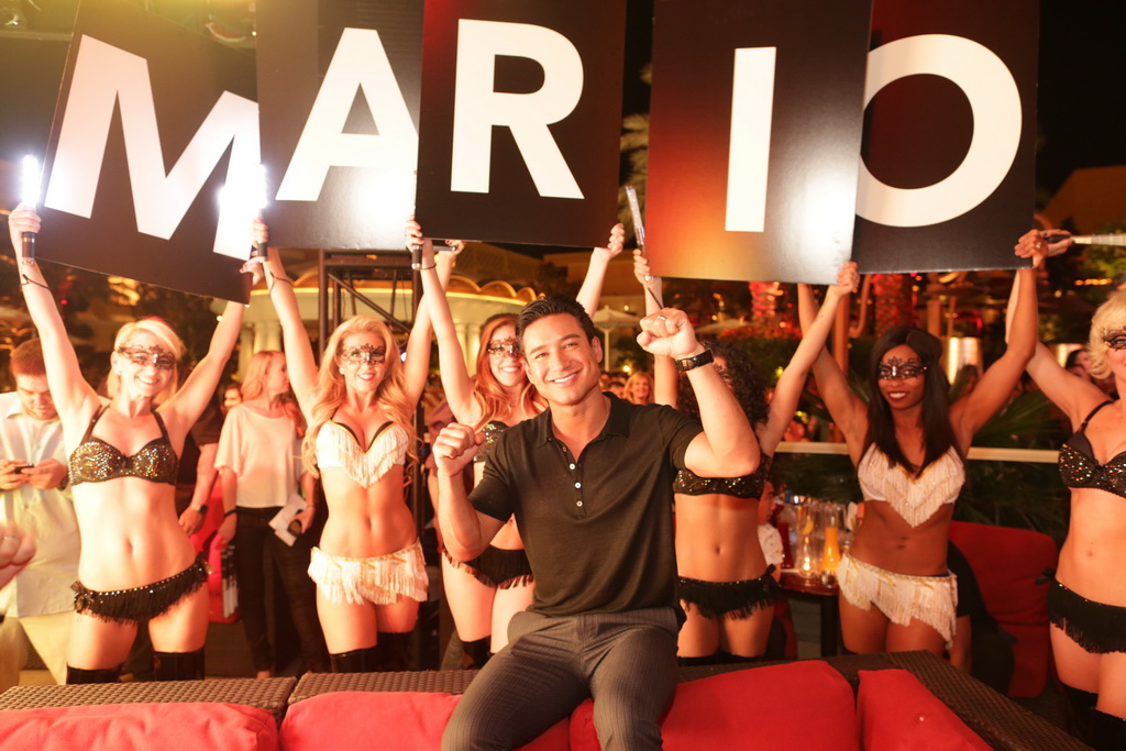 Mario Lopez celebrates birthday and launch of his new book at XS Nightclub