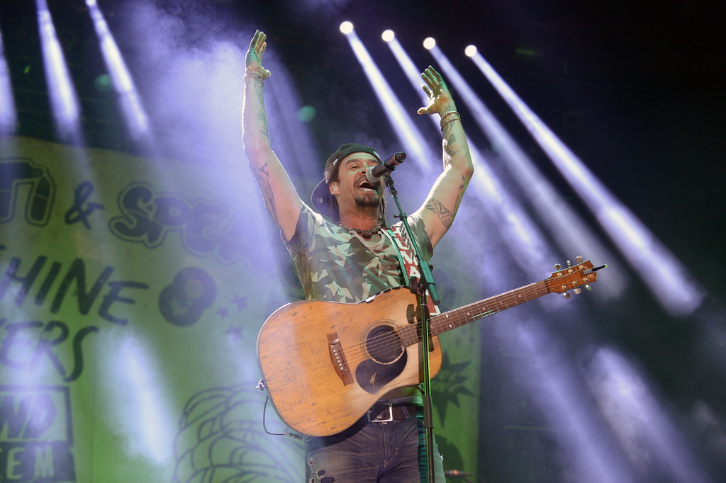 Michael Franti & Spearhead performing at Wine Amplified - Photo by Bryan Steffy/WireImage