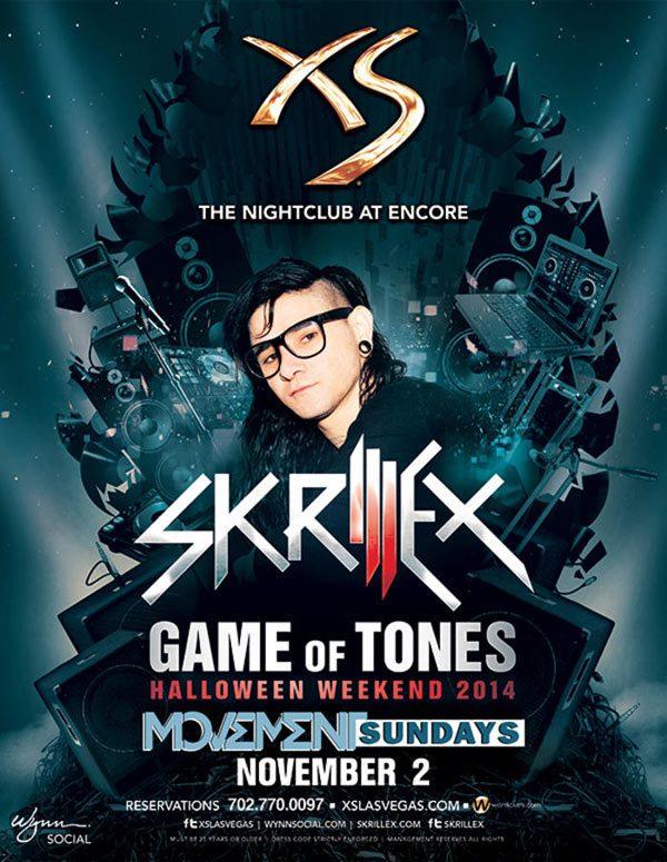 Skrillex at XS Nightclub