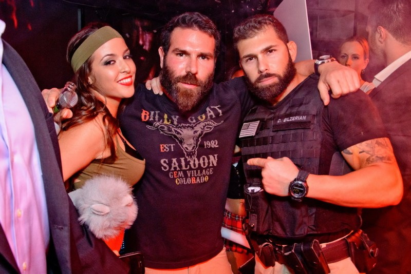 Dan Bilzerian With Look-A-Like Contest Winner at Marquee