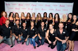 The Ladies of FANTASY with the Cast of Thunder From Down Under on the Pink Carpet